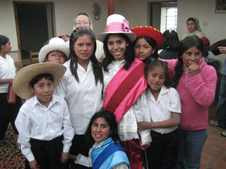 Ana Dodson with Peruvians